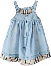 Tortor 1Bacha Girls39 Plaid Patchwork Washed Denim Dress