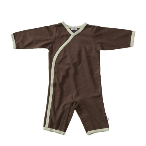 All-Natural Kimono Onepiece by Baby Soy (Choc/Tea, 0-3)