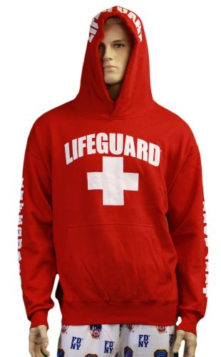 Lifeguard-Hoodie-Life-Guard-Sweatshirt-Red-Large