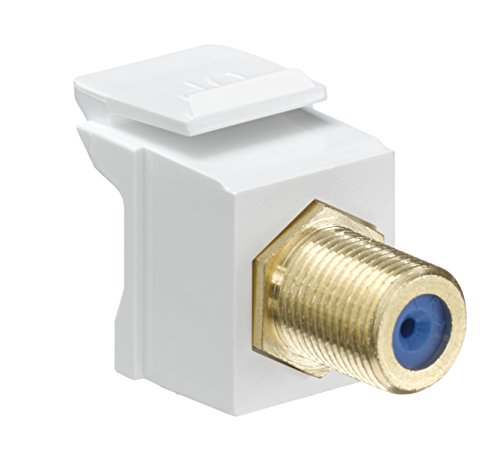 Leviton 40831-BW QuickPort F-Type Adapter, Gold-Plated, White (Gold F Type Coax compare prices)