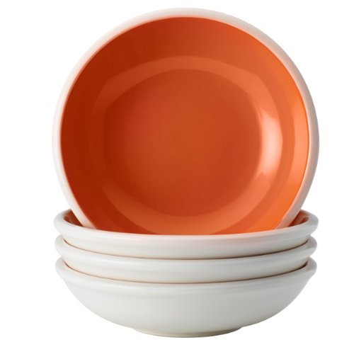 Rachael Ray Dinnerware Rise Collection 4-Piece Stoneware Fruit Bowl Set, Orange by Rachael Ray