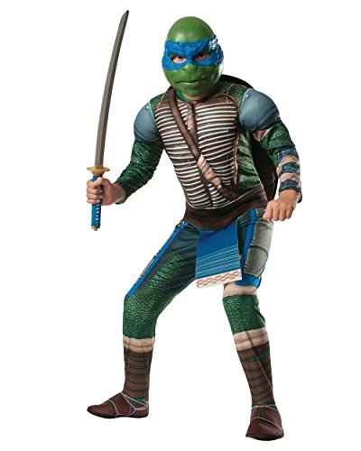 Kid's Teenage Mutant Ninja Turtles Deluxe Muscle Chest Leonardo Costume Bundle