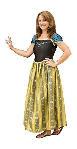 Adult Frozen Princess Anna Halloween Costume Dress