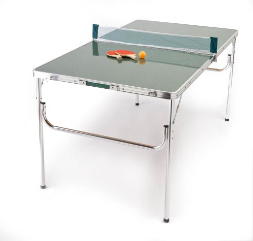 The ORIGINAL Mini Portable Lightweight Aluminum Folding Ping Pong Table Set with EXTRA PADDLES AND EXTRA BALLS!
