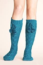 Chunky Cable Knit Bootie Slipper Socks [T60-5600-S-FO32]