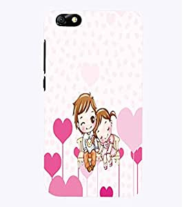 PrintVisa Romantic Love cute Couple 3D Hard Polycarbonate Designer Back Case Cover for Huawei Honor 4X