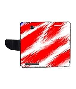 KolorEdge Printed Flip Cover For Alcatel One Touch Flash Multicolor - (1479-55KeMLogo11813AlcatelFlash)