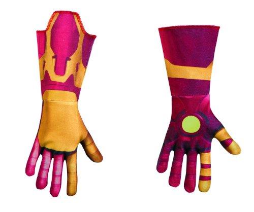 Disguise Marvel's Iron Man Movie 3: Iron Man Mark 42 Deluxe Child Gloves (Iron Man Glow Arc Reactor)