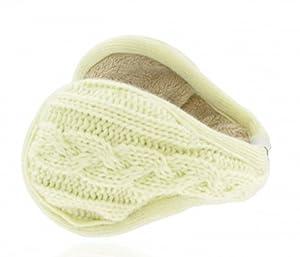 KitSound MUFKWHK Audio Earmuffs 3.5mm headphone jack - Knitted White