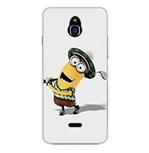 Happoz Infocus M2 Cases Back Cover Mobile Pouches Shell Hard Plastic Graphic Armour Premium Printed Designer Cartoon Girl 3D Funky Fancy Slim Graffiti Imported Cute Colurful Stylish Boys D132