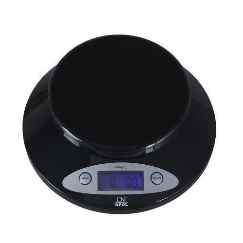 5000g / 1g écran LCD avec rétro-éclairage bleu numérique Balance de cuisine électronique pour peser les aliments de la cuisine (avec une cuvette)