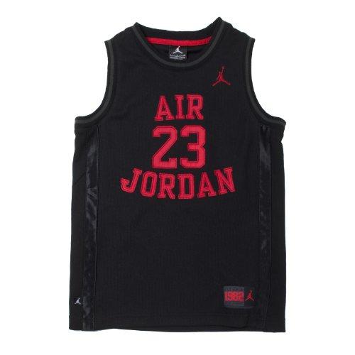 Jordan Little Boys' 23 Basketball Classic Mesh Sleeveless Jersey (4, Black/Red) (Jordan Classics compare prices)
