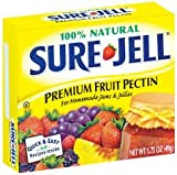 PREMIUM FRIUT PECTIN FOR HOMEMADE JAMS AND JELLIES by Sure Jell PACK OF 2 - 100% Natural