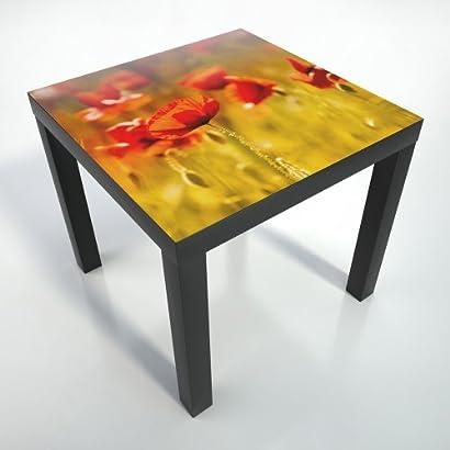 HOUSE NORDIC Table dappoint Genova Blanche avec Pieds en Bois Naturel