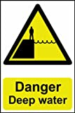 Danger Deep water sign 2mm vandal proof polycarbonate 200 x 300mm