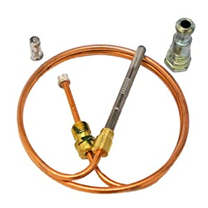 "FURNACE THERMOCOUPLE KIT 24"" ONETRIP PARTS® DIRECT REPLACEMENT FOR RHEEM RUUD WEATHERKING 62-25113-02"