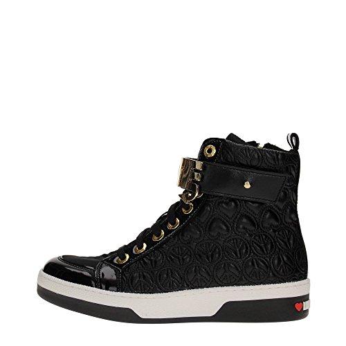 Love Moschino JA15023G12I Sneakers Donna Pelle Nero Nero 38
