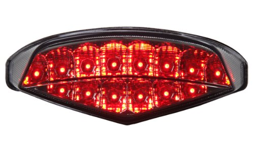 2009-2014 Ducati Monster 696/796/1100 Integrated Sequential Led Tail Lights Smoke Lens