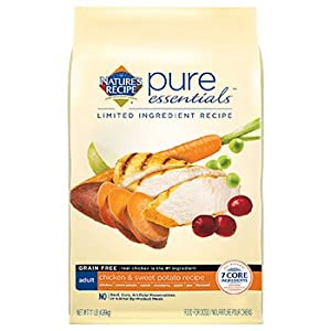 Nature's Recipe Pure Essentials Chicken & Sweet Potato Grain Free Adult Dog Food, 11 lbs.