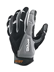 Wilson Adult GST Trench Receivers Gloves, Grey Black, 3X-Large by Wilson