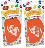 Jelly Belly 2D Car Air Freshener - Juicy Tangerine x2
