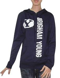 NCAA Brigham Young Cougars Ladies Zip-Up Hoodie Jacket (Vintage Look) by NCAA