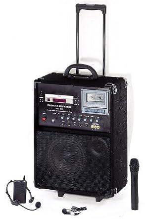 "Oklahoma Sound PRA-7000 100-Watt Wireless PA System, 10"" Width x 22"" Height x 13"" Depth, Black"