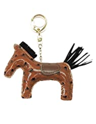 Young & Forever Handmade Ostrich Pu Leather Cute Animal Racing Trojan Key Chain Bag Charm (Brown Color) By CrazeeMania...