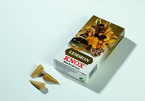 KNOX Incense Cones, Smell Smoke Candles Lemon,24 pice in a package