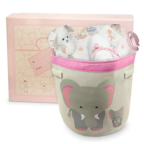 Complete Baby Shower Gift Set for Girls, Modern Newborn Muslin Essentials, Arrives Beautifully Packaged and Ready to Give