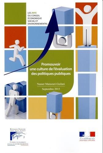 Promouvoir une culture de l'évaluation des politiques publiques