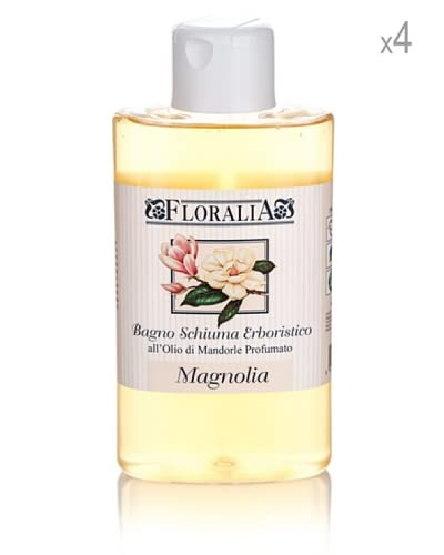 Floralia Set 4 Pezzi Bagno Schiuma Olio Di Mandorle Profumato Magnolia 400 Ml Cad