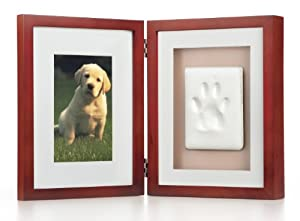 Pearhead Pawprints Pet Memorial Desk Frame , Mahogany
