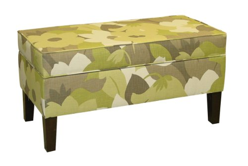 Skyline Furniture A-848-ESPRITPEAR Modern Upholstered Storage Bench in Esprit Pear at Sears.com