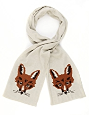 M&S Collection Fox Print Scarf