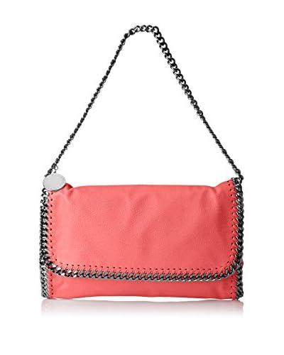 Stella McCartney Women's Faux Suede Falabella Braided Handbag, Pink Fluorescent
