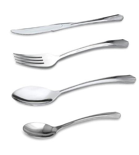 200 Sets Reflections Like Silver Plastic Silverware, Cutlery Combo Of 600 Pieces Includes 200 Forks, 200 Knives, 200 Spoons