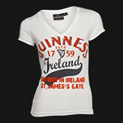 Guinness White Orange Brew in Ireland Ladies Tee