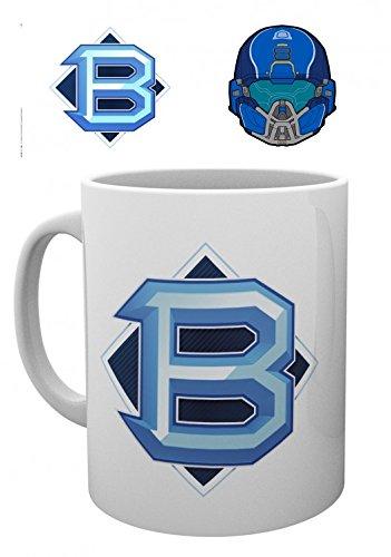 Set: Halo, 5,pvp Blue Tazza Da Caffè Mug (9x8 cm) E 1 Sticker Sorpresa 1art1®