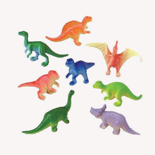 US Toy Assorted Mini Dinosaur Plastic Figures (Lot of 12)