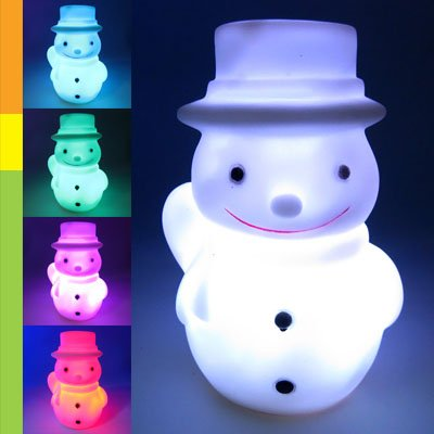 Color Changing Led Snowman Christmas Mood Lamp Night Light back-569979