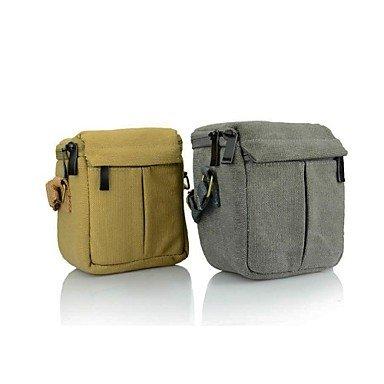 Dengpin? Canvas Camera Shoulder Bag Case for Canon EOS M 10-30 18-55 22mm Lens, Bag for Canon SX30 SX40 SX50 Long Lens , Brown