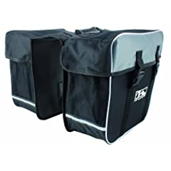 "Double up on hauling convenience! M - Wave Double ""Day Tripper"" Pannier turns your bike into a fast - moving pack horse. For snacks, extra clothing, and all the other stuff you'd rather not leave behind... here's the way to carry it in lightweight, w..."