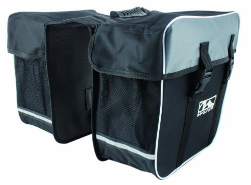 Review M-Wave Amsterdam Double Bicycle Pannier Bag, Black/Grey