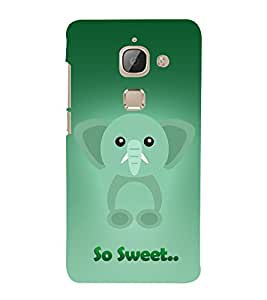 Elephant Clipart 3D Hard Polycarbonate Designer Back Case Cover for LeEco Le Max 2 :: LeTV Max 2