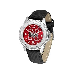 Nebraska Cornhuskers NCAA Anochrome Competitor Mens Watch (Poly Leather Band) by SunTime