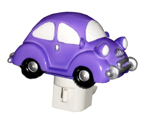 4.75' Purple Bug Car Night Light Beetle Punch Buggy Light - 1