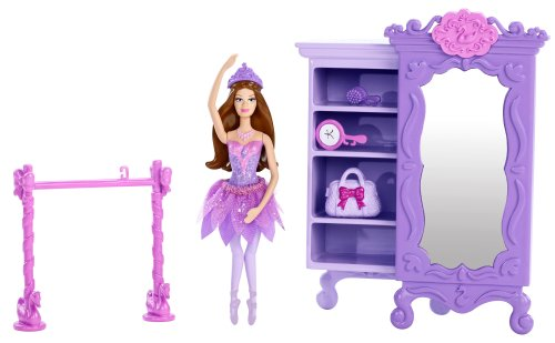 Barbie Pink Shoes Purple Armoire Furniture Set