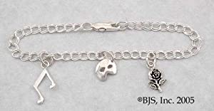 Phantom of the Opera Sterling Silver Charm Bracelet