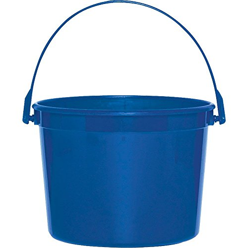 Royal Blue Plastic Bucket with Handle - 1